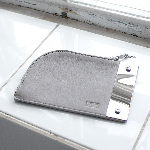 2nd Collection-PILL POUCH [ ASH GRAY ]
