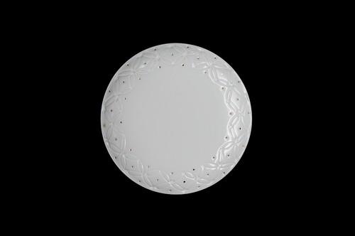 ◆受注生産◆白磁金彩七宝4寸皿 高島慎一作