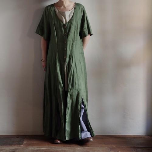 Linen Layered style Dress / レイヤード ドレス / リネン ワンピース