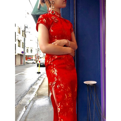 red china design onepiece [B2453]