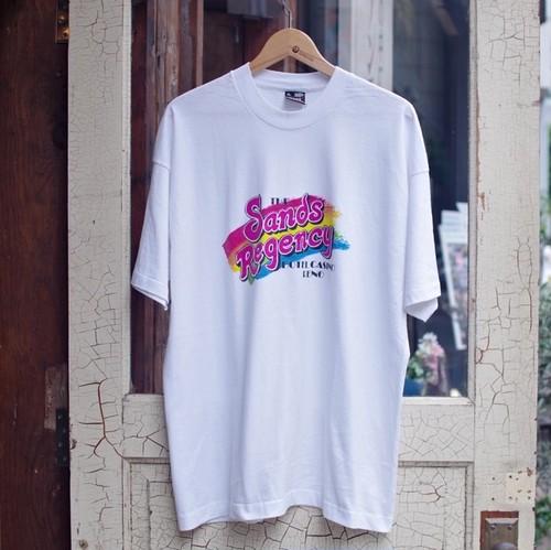"""1990s FRUIT OF THE ROOM """"BEST"""" 黒タグ  Print T-Shirt / カジノ ホテル Tシャツ / 90年代 Big Tee"""