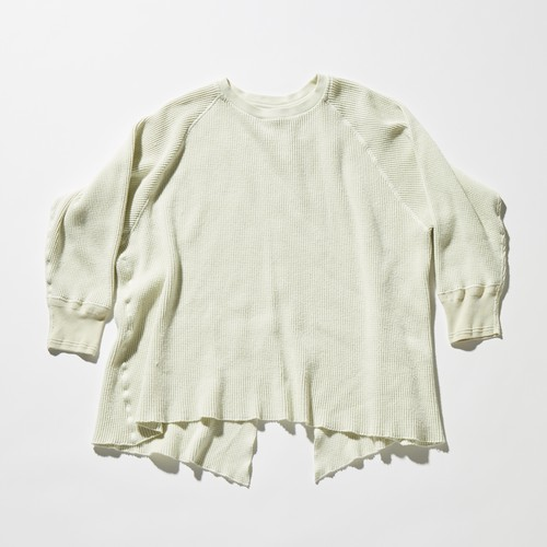 【FILL THE BILL】《UNISEX》BRUSHED THERMAL BACK SLIT SWEAT - MINT WHITE