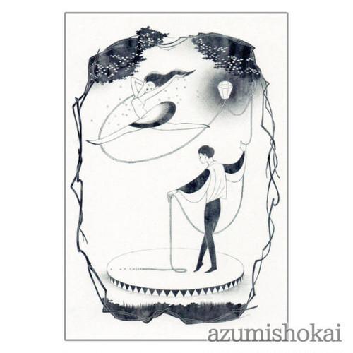 ポストカード - 灯りでラララ - あずみ商會 - no2-azu-04