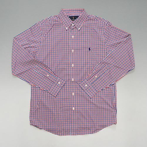 POLO RalphLauren ポロ・ラルフローレン PONYワンポイント ボタンダウン チェックシャツ パフォーマンスライン トリコロールカラー