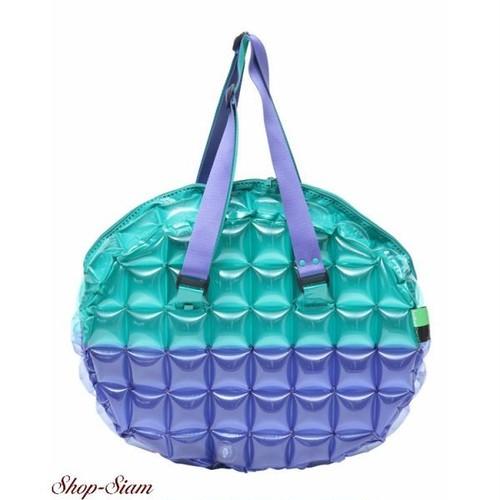 インフラットデコ/inflat Decor スポーツバッグ オーバルシェイプL (グリーン×ブルー)