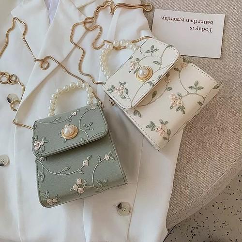 flower bijou bag 4color