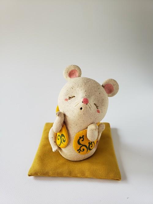 唐草ベストの子・黄(ミニ座布団付き)