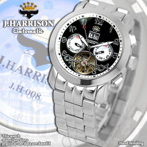 【J.HARRISON】JH-008BW 手巻き付&自動巻