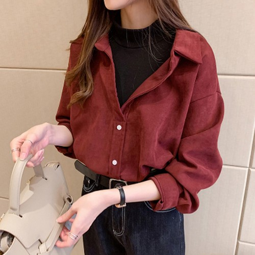 【トップス】フェイクレイヤード好感度100%ファッションシフォンシャツ26277037