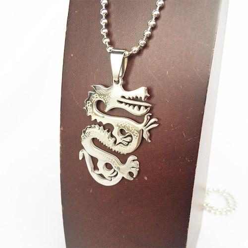 龍 竜 ドラゴン ボールチェーン チョーカー ネックレス 銀 シルバー SILVER 1866