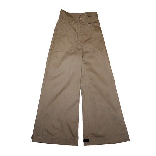 2way Flap High Waist Wide Pants (Camel)