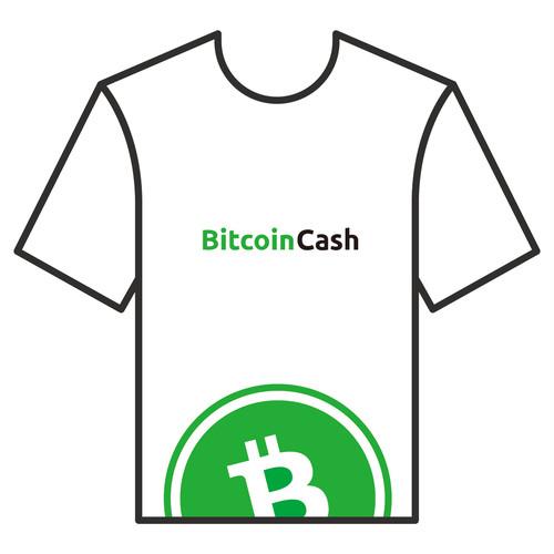 BitcoinCashTシャツ シリーズA 白 COFA(A4-005)