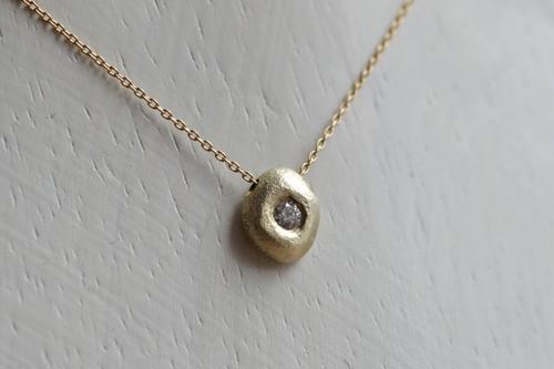 shizuku  (K10GG・Diamond) Pendant