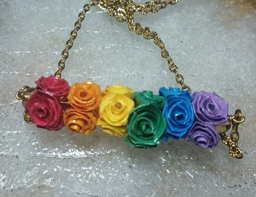 【Butterfly Rose】バラのネックレス②