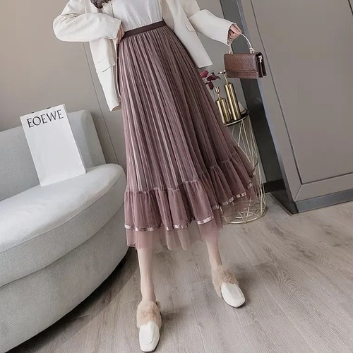 tulle frill shirt 4color