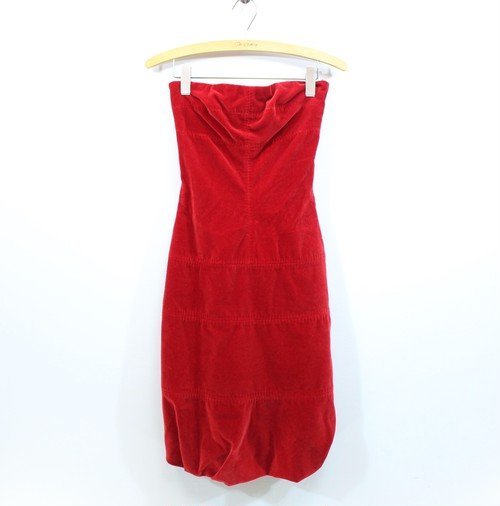 2000000028361 LOUIS VUITTON VELOUR DRESS ONE PIECE MADE IN FRANCE/ルイヴィトンベロアドレスワンピース