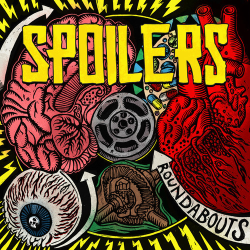 "spoilers / roundabouts 12"" on YELLOW/BLACK CORNETTO vinyl"