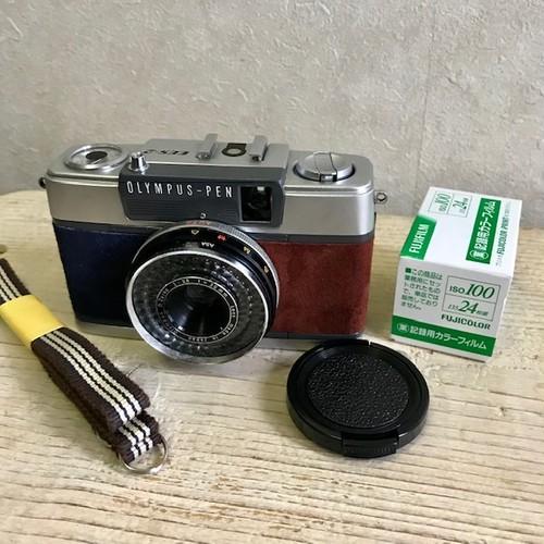 リメクカメラ OLYMPUS PEN-EES2(ネイビーブルー・ブラウン)