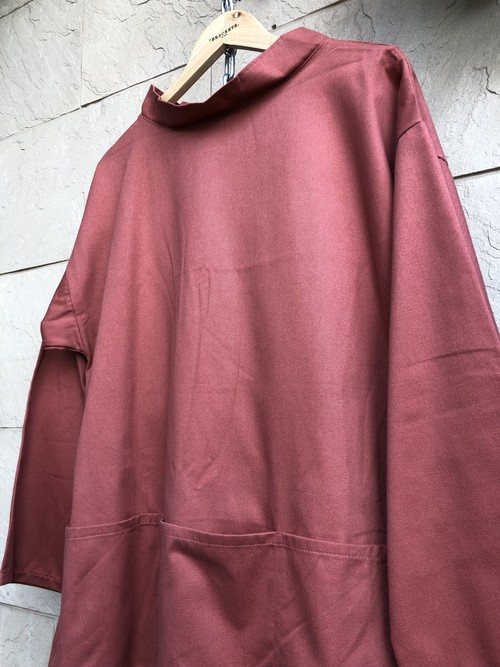 Deadstock Fisherman smock made in England brick color