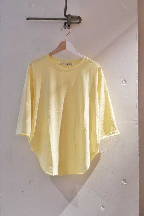 pelleq / middle sleeve T (lemon)
