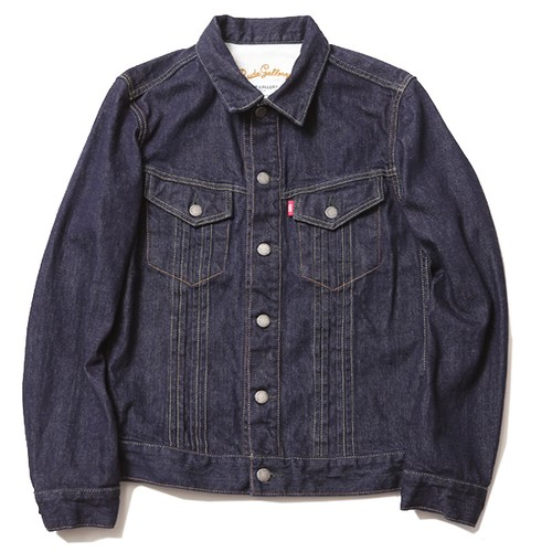 TUCK STRETCH DENIM JACKET - ONE WASH / RUDE GALLERY