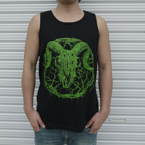 Inversion of Christ Tank Top Green × Black