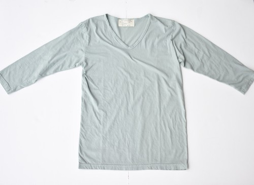 【GRAB IN HOLLYWOOD】BASIC V NECK 3/4SLEEVE - FAIR GREEN