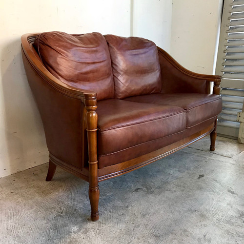 Leather Vintage 2 Person Sofa オランダ
