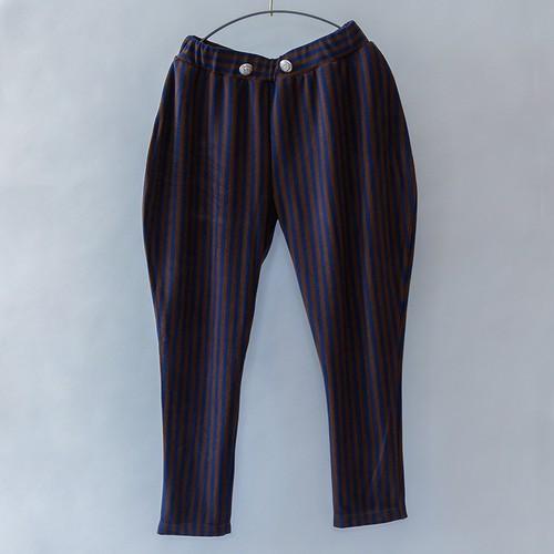 Stripe pants   L(115-130) / XXL(140-150)   ネイビー&チャコール