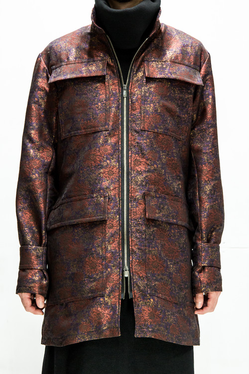 18AW Flower Camouflage Military Jacket