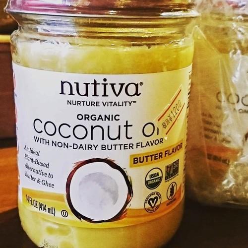 nutiva オーガニックココナッツオイル バターフレーバー  nutiva organic coconut oil butter flavor