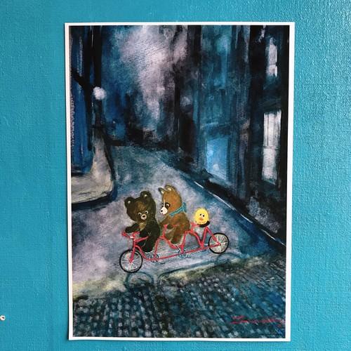A4 POSTER「真夜中のサイクリング」