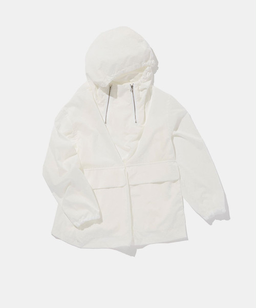 POLYPLOID HOODED JACKET C WHITE