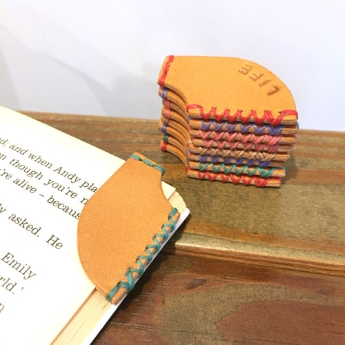 Leather Book marker / plane