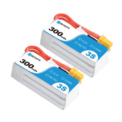 BETAFPV 300mAh 3S 45C Lipo Battery (2PCS)