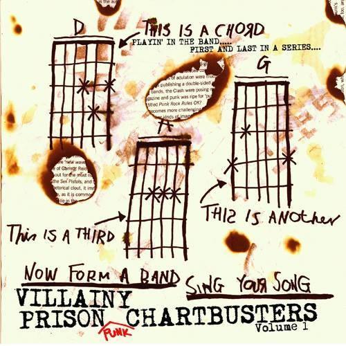 【CD+Tシャツセット】VA (VILLAINY PRISON RECORDS) / VILLAINY PRISON PUNK CHARTBUSTERS(STUDIOORANGE缶バッジ付)
