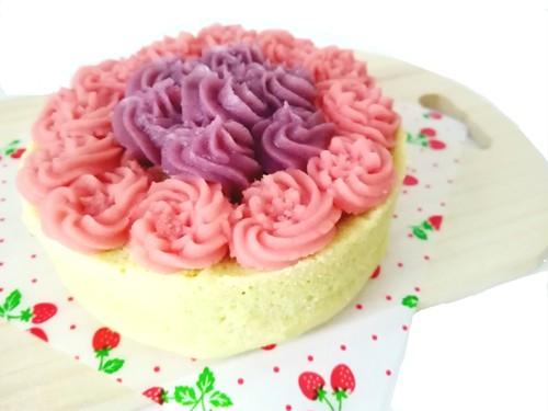 お名前入りプレート付き★犬用ケーキお花畑デコレーション