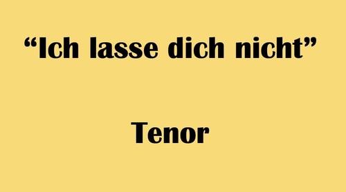 """テノール用 """"Ich lasse dich nicht"""" BWV Anh. 159 Karaoke for Tenor"""