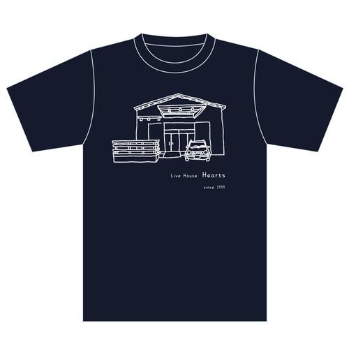 【Hearts 21th Tシャツ ver.2】NAVY