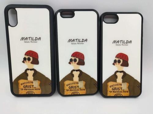 【MATILDA】アイフォーンケース iphoneケース case iPhoneカバー おしゃれ おそろい カップル 韓国 おもしろい 海外 かわいい かっこいい ソフトなボディ がんじょうきれい【iPhoneX用、マチルダ】