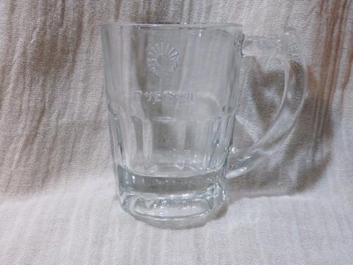 超激レア アサヒビール 旧ロゴ ジョッキ レリーフ 気泡ガラス
