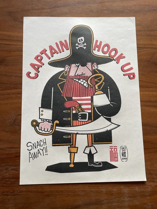 CAPTAIN HOOK UP / A3ポスター(額無し)