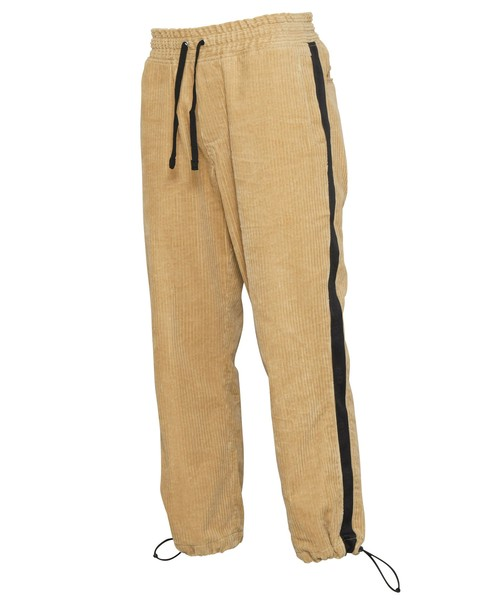 LOGO LINE TAPE CORDUROY WIDE PANTS[REP115]