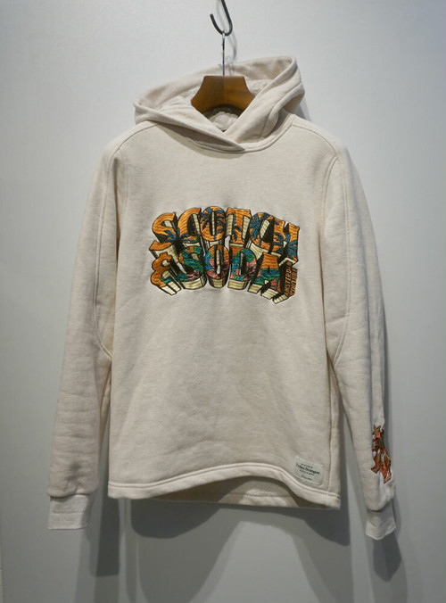 SCOTCH & SODA Embroidery Hoody オフホワイト