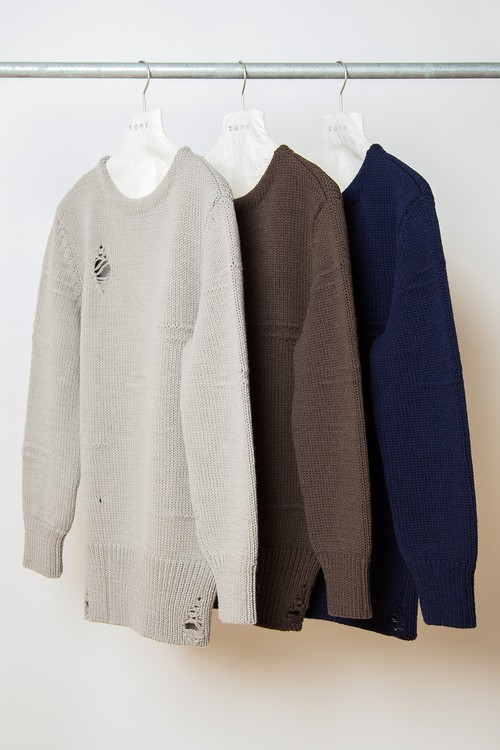 TO-AW16-KT03 30S DAMAGE SWEATER