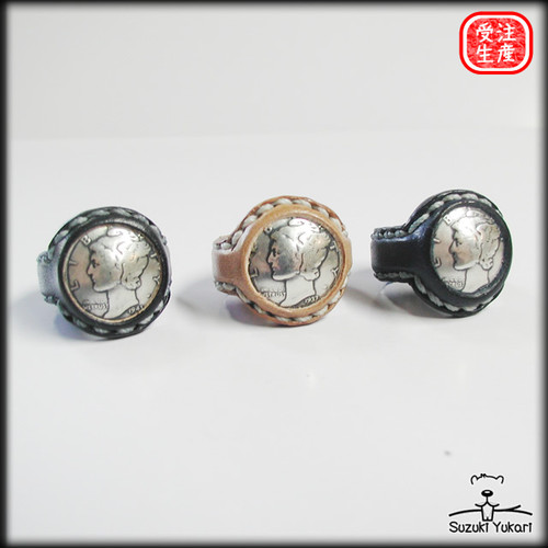 Leather Coin Ring / LCR-002