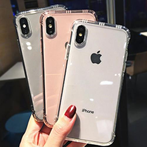 【お取り寄せ商品、送料無料】3カラー クリア 無地 アンチノック ソフト iPhoneケース