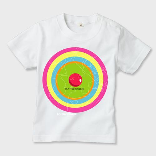 カラフル細胞の図 001TRIUEN-K お肌にやさしい キッズTシャツ 白 キッズ70 ガーメントインクジェット印刷