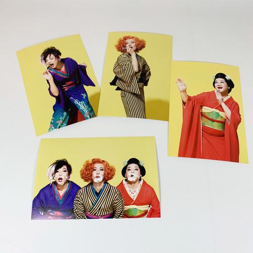ポストカード4枚セット(化粧室Ver.)