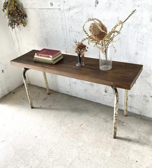 古材×サビ脚のベンチ[古家具]